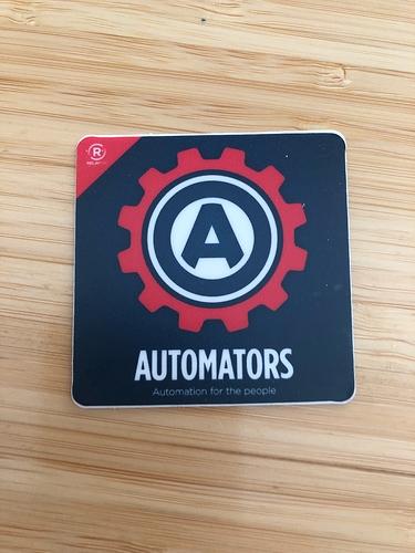 Automators Artwork as a sticker