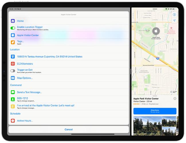 GeoCuts Apple Visitor Center